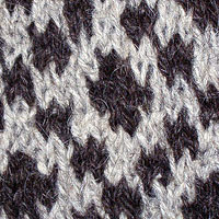 Close up of Hand knitted Faroese pattern jumper