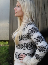 Sarah Lund style traditional organic Faroese cardigan from sarahlundsweater.com